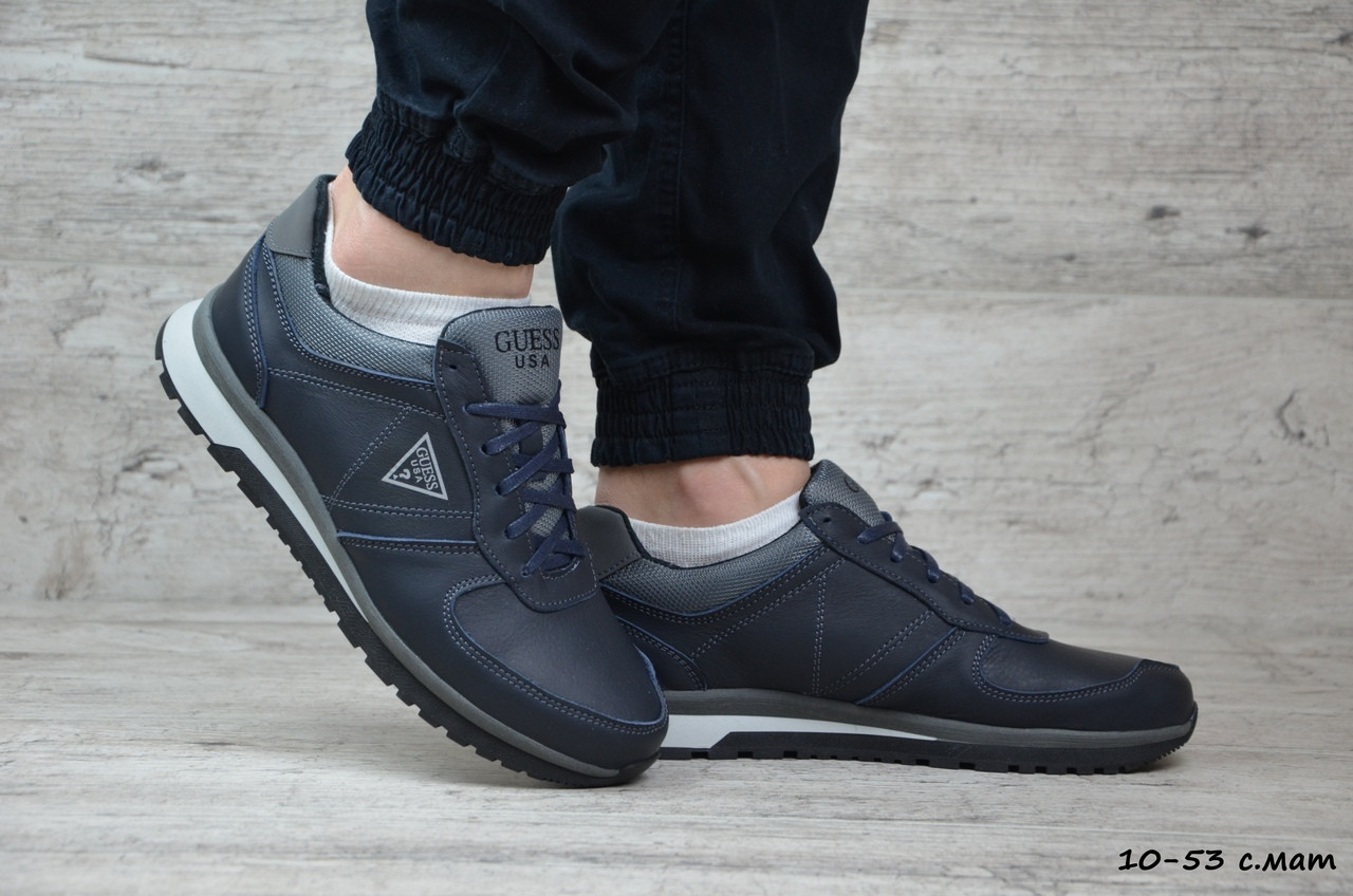 Мужские кожаные кроссовки Guess (Реплика) ► Размеры [41]