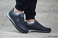 Мужские кожаные кроссовки Guess (Реплика) ► Размеры [41], фото 1