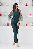 Женский костюм тройка / костюмная ткань, масло, органза / Украина 34-467, фото 1