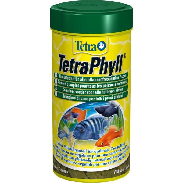 Корм Tetra Phyll для растительноядных рыб в хлопьях, 250 мл