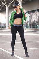 Спортивные лосины L, XL (48-50, 50-52) Лосины тренировочные для танцев фитнеса спорта Серый