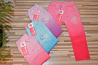 Котоновые брюки для девочек оптом 74-104  см