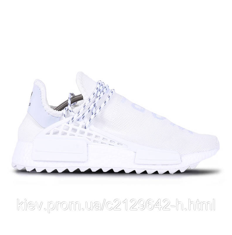 Кроссовки женские Adidas NMD Human Race Pharrell Williams White белые 5eeb831d1cef4