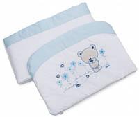 Бампер для кроватки Evolution A-016, голубой, Twins (2000.22.68.04)