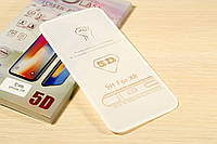 Защитное стекло 5D для iPhone Xr (White)