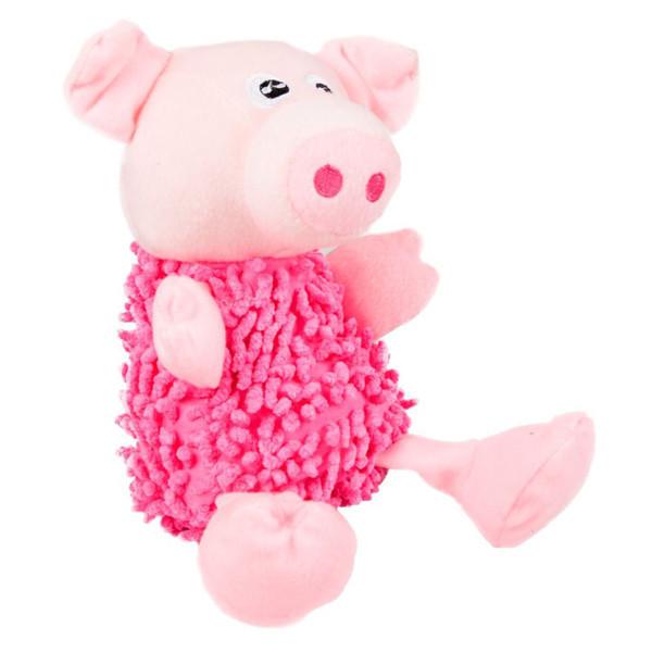 Игрушка Karlie-Flamingo Shaggy Pig для собак мягкая, 22 см