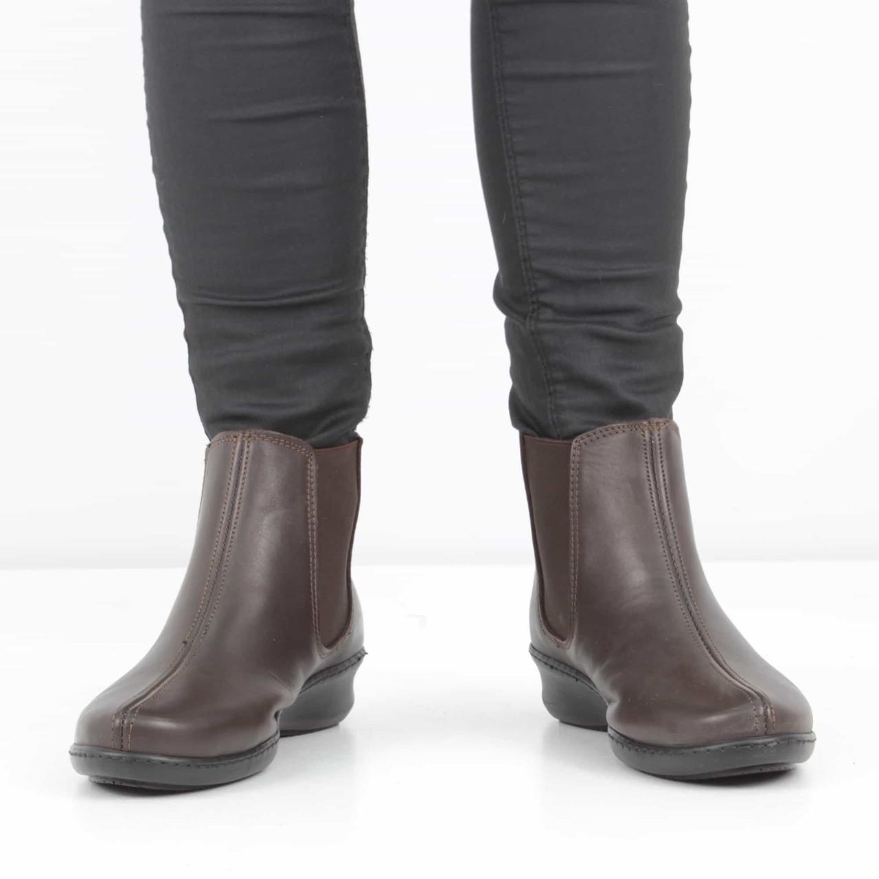 f95368dc5 Кожаные темно-коричневые ботинки на танкетке (весна-осень), 37 размер, ...