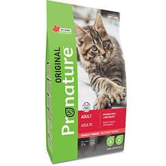 Pronature Original Cat Chiсken Lamb  корм для взрослых кошек курицей с ягненком 2,27кг