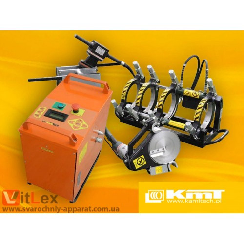 Стыковая сварка KamiTech KmT160 Сварочный аппарат стыковой сварки полиэтиленовых ПНД ПЭ пластиковых труб