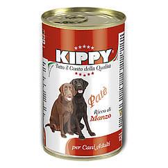 Паштет Kippy Dog для собак с говядиной, 1250 г