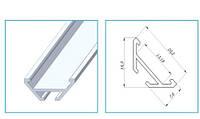 Алюмінієвий профіль ЛСУ-AL  для світлодіодних стрічок 7275, фото 1