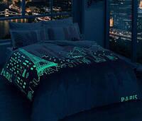 Постельное белье светящееся в темноте TAC GLOW  Сатин Paris gul kurusu
