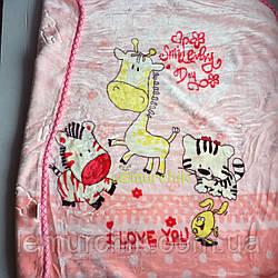 Плед детский мягкий двухсторонний (микрофибра утепленная) 100х100 см, Цвет 5