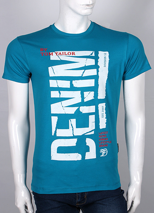 Мужская футболка с принтом Валимарк DENIM,модная, ростовка, оптом, по ценам производителя