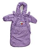 Куртка демисезонная  и конверт   для девочек от рождения до года, фото 6