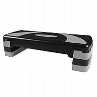 Степ-платформа 3-ступенчатая SportVida черно черного цвета