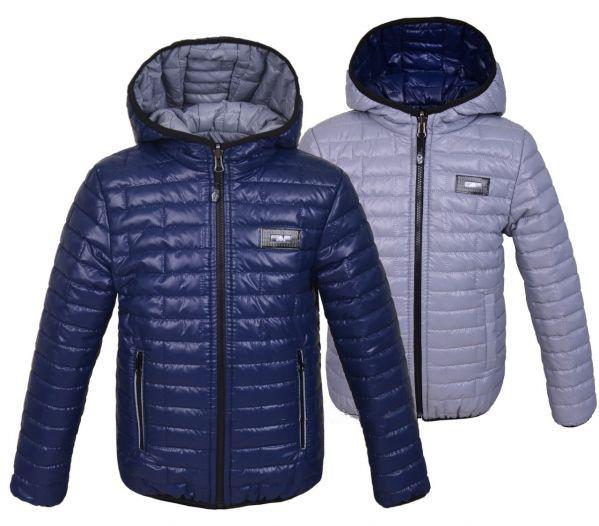 Весенне-осенняя двухсторонняя куртка   для мальчика рост 98-104