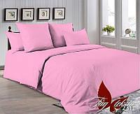 Двуспальный Евро комплект постельного белья розовый  (2311), фото 1