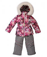 Детский зимний костюм (куртка и брюки) для девочки  10-18 мес