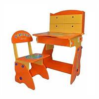Регулируемая детская парта растишка со стульчиком Bambi W 078