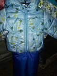 Демисезонная куртка и  штаны на лямках для мальчика, фото 3