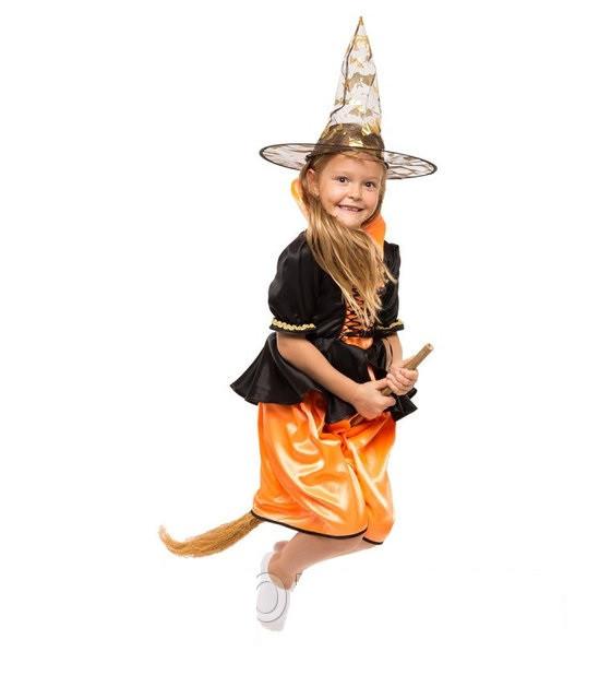 Карнавальный костюм для девочки  Ведьмочка (Ведьма)