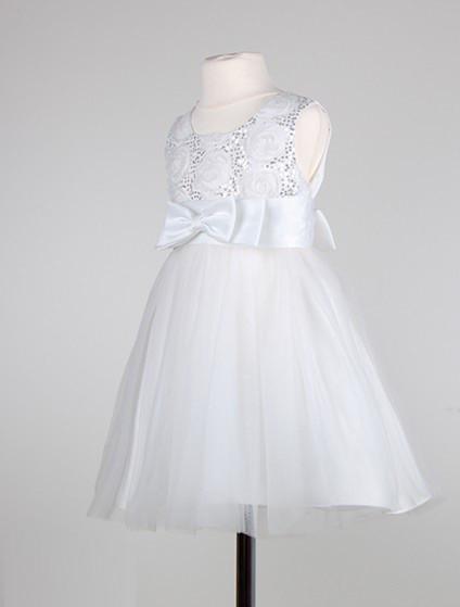 Белое праздничное  платье  для девочек 2-5 лет