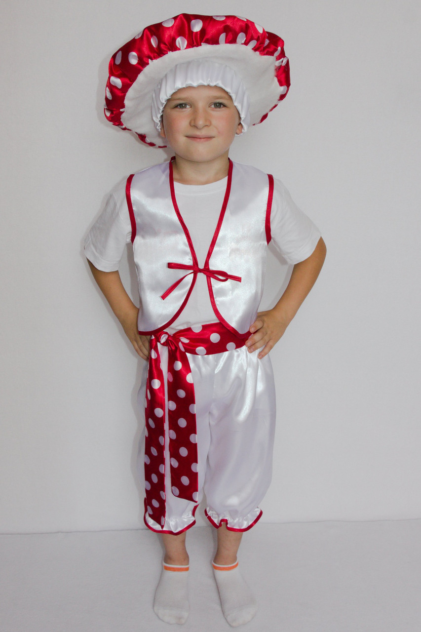 Маскарадный костюм для мальчика Гриб Мухомор