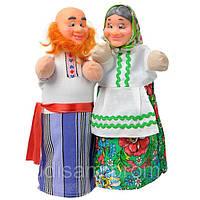 """Куклы - перчатки """"Дед и Баба""""  для кукольного театра, фото 1"""