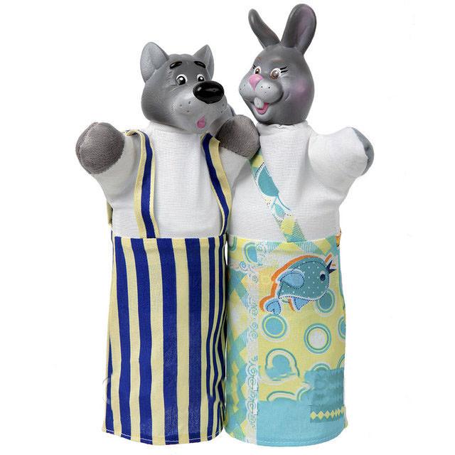 Куклы - варежки Волк и Заяц  для кукольного театра