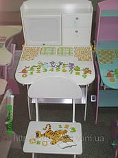 Регулируемая детская парта растишка со стульчиком Bambi W 072, фото 3
