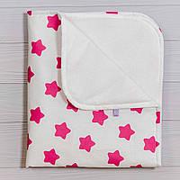 Непромокаемая пеленка  Розовые звезды 70 х 80 см, фото 1