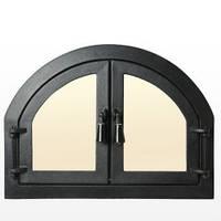 """Дверцы Печные чугунные со стеклом """" Двойные""""для печи,барбекю,сауны.Актуальная цена , фото 1"""