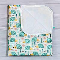 Непромокаемая пеленка   Мятные ежики 70 х 80 см  , фото 1
