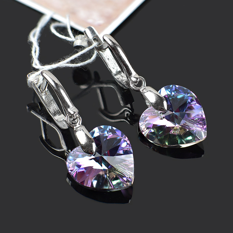 Cерьги Симпатия с кристаллами Swarovski