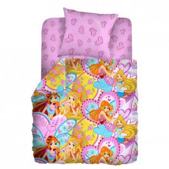 Комплект постельного белья  Феи Винкс