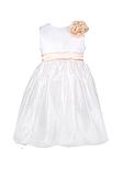 Нарядное белое детское  платье с цветком, фото 10