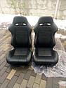 Спортивное сиденье R-LOOK II (Черное, Эко-кожа + Велюр), фото 4