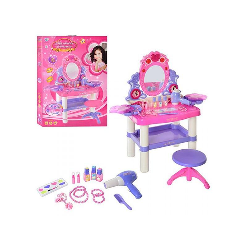 Детский столик  трюмо со стульчиком  и аксессуарами 73008\0395