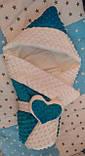 Зимовий конверт на виписку та прогулянок для дівчинки, фото 10