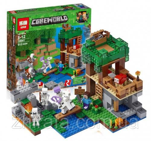 Конструктор Майнкрафт Нападение армии скелетов 10989, аналог Лего