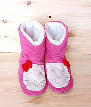 Домашние тапочки-сапожки для девочки Китти
