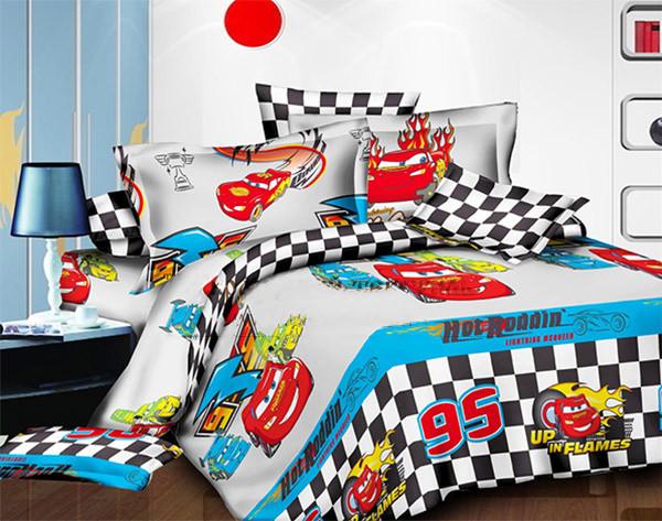 Комплект постельного белья  для мальчиков Молния Маквин 95