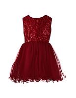 Бордовое праздничное  платье   для девочек 3-6 лет, фото 1