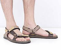 Кожаные коричневые сандалии (лето), 45 размер, код UT79234