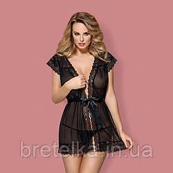 Халат женский Obsessive 854 черный