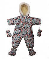 Зимний комбинезон трансформер для  мальчиков Снеговички, фото 1