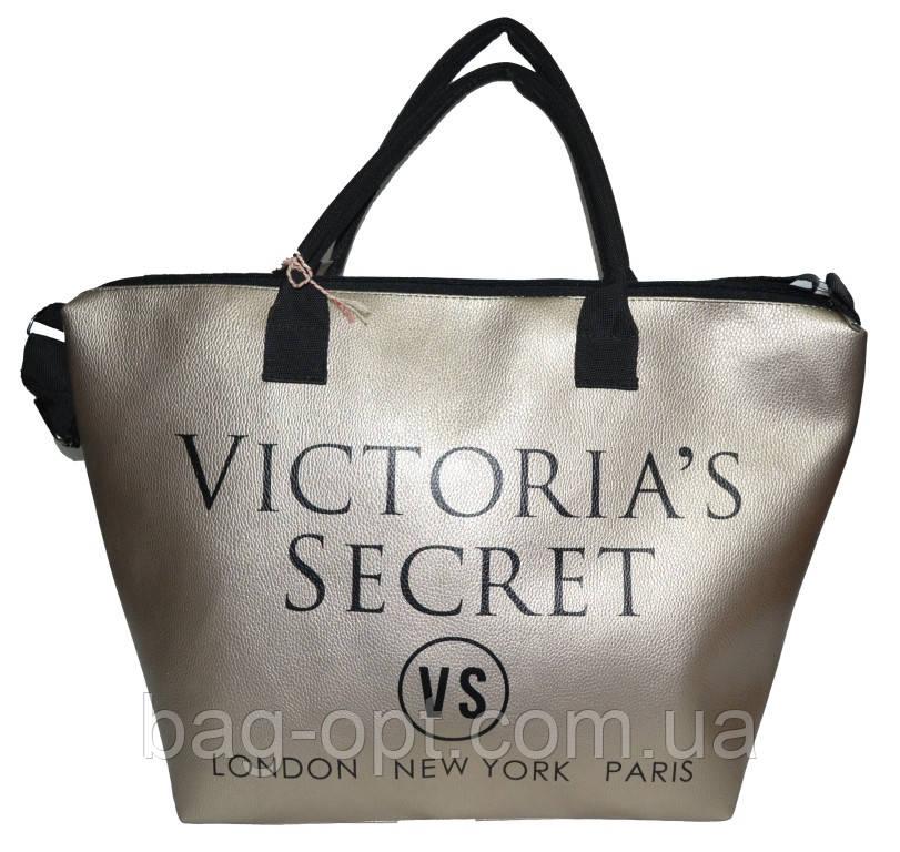 Сумка женская спортивная Victoria's Secret (34x35x22) золотистая