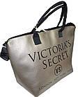 Сумка женская спортивная Victoria's Secret (34x35x22) золотистая, фото 3