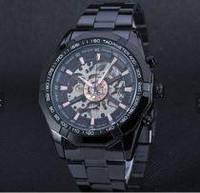 Годинник з автоподзаводом Winner Skeleton, чорні, фото 1